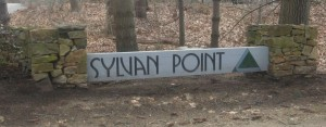 Sign to the entrance of the Sylvan Point Condos in Branford CT